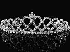 Bridal TiaraPrincess Tiara With Crystal Loops 24426 ** Want to know more, click on the image.
