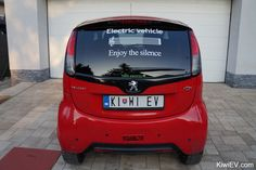 "My new ""electric vehicle - enjoy the silence"" sticker arrived! #electriccars #EV #EVs #green #cars #Deals #cleanair #ElectricCar"