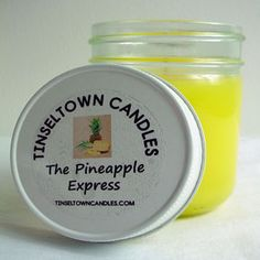 Pineapple Express Scented 8oz Jar Candle (Pineapple Upside Down Cake)