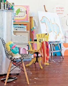 Home Tour: Colourful Home of Sydney Artist – Bright.Bazaar