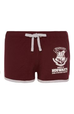 Primark - Burgundy Harry Potter Shorts