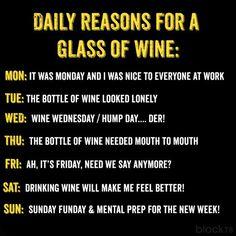 Daily reasons...