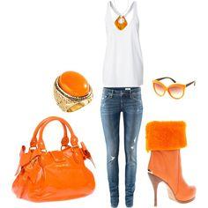 Fun bright orange outfit