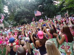 USC DZ American Themed Bid Day #deltazeta