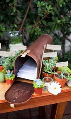 American Vintage Wedding Mailbox Inspiration www.theweddingofm… American Vintage Wedding Mailbox Inspiration www. Wedding Mailbox, Diy Mailbox, Gift Table Wedding, Wedding Boxes, Wedding Reception, Rustic Wedding, Wedding Gifts, Wedding Ideas, Wedding Card Holders