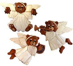 Angelic Chorus Bears Intarsia