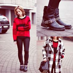 Papilion Sweater, Shoes, Romwe Coat, Omgfashion Pants