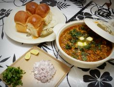 """Marathi Delicacy - """"Pav Bhaji"""" Very common food in Maharashtra, and very popular in India.. I have tried my best to make it light on stomach and high on health ...... For my recipe, please write to me!! (Recipe Below)  http://nupurbhattacharya.blogspot.in/2014/02/marathi-delicacy-pav-bhaji.html"""