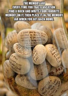 """Stones and Rocks DIY Wedding guest book"". Guests write messages to bride and groom on rocks with Sharpie instead of signing traditional guest book. This would be cool to put in giant glass vases on either side of the fireplace once the wedding was over. Dream Wedding, Wedding Day, Wedding Beach, Wedding Wishes, Wedding Backyard, Budget Wedding, Wedding Gifts, Wedding Quotes, Wedding Stuff"