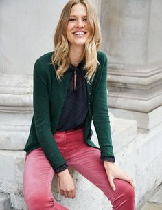 There's soft – and there's Boden cashmere soft. Our knitwear team pride themselves on the quality of our tactile cashmere knits. They've reached new heights of cashmere perfection with this cardigan (complete with neck, cuff and hem stitching), so why not celebrate with all these beautiful hues?