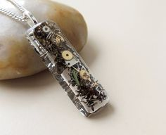 Steampunk Necklace, Watch Parts in Resin Pendant, Steampunk Jewelry, Resin Jewelry on Etsy, $21.90