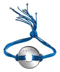 Sterling Silver Personalized Circle Rainbow Charm Bracelet #zulily #zulilyfinds