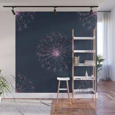 Neon Dandelion Wall Mural