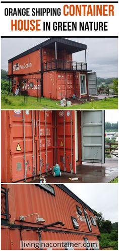 Glass House Design, Wooden House Design, Modern Small House Design, Green House Design, House Front Design, Container House Design, Container Homes, Container Buildings, Shipping Container House Plans
