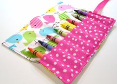 Crayon Roll  SPRING BIRDIES Crayon Roll Up by HappyBabeeandBeeyond, $6.00