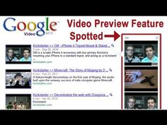 Spotted - Google Video Previews in Search Results