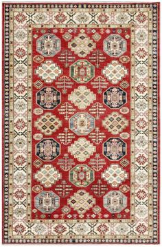 Red 7' x 10' Kazak Rug Hand Knotted Oriental Rug