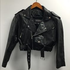 Wilsons Leather Biker Jacket! Size Medium Vintage Wilsons Leather Bikers Jacket! Very Cute! You Don't Have To Be A Biker To Rock It! :) Great Condition, Many Pockets, & Multiple Zippers! Minor Hole On Belt (Shown In Picture) Not Noticable! Make A Great Offer! No Trades! Wilsons Leather Jackets & Coats