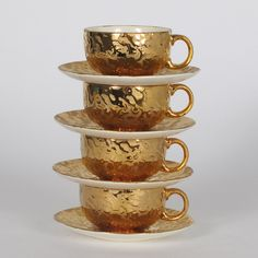 mccoy pottery | weeping gold cups.
