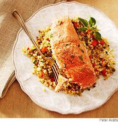 Salmon with Toasted Israeli Couscous from @WebMD