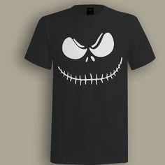 Jack Skeleton Black T shirt, T shirt for Men, Women, Girl, Boy, XS, S, M, L, XL, XXL, 3XL,  Size, Customized