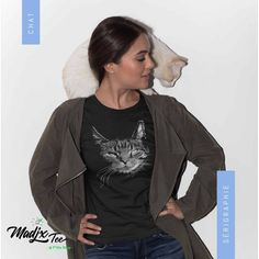 Creation T Shirt, Dandelion Designs, Gifts For Women, T Shirts For Women, Custom Tee Shirts, You're Awesome, Cat Gifts, My T Shirt, Black Print