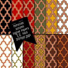 Instant Download Moroccan Designs Digital by CheriesArtsnCrafts, $3.25