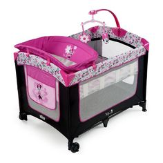 Disney Baby Pink Minnie Mouse Garden Delights Playard Play Pen Yard with Changer | eBay