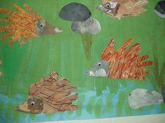 herfst: egels painted paper 3? handomtrekken