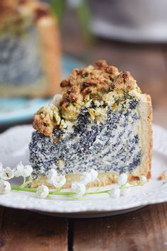 Mohn Streusel Quark Kuchen - Poppy Seed Crumble Cheesecake | Das Knusperstübchen