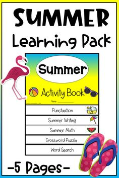 Keep kids learning during the summer and having fun with this summer activity pack. Organized in an adorable flipbook, kids will enjoy the summer themed activities. #summerprintable #summerprintablesforkids #summeractivitypack Summer Activities For Kids, Hands On Activities, Literacy Activities, Last Day Of School, Summer School, Summer Slide, Summer Fun, School Resources, Kindergarten Classroom