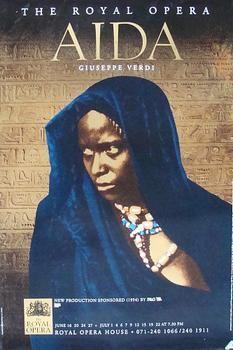 AIDA (1994) Original Royal Opera Poster #Aida #Verdi #Opera