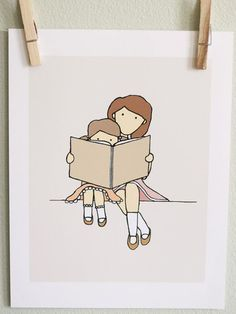 20 Art Prints to Encourage Reading ... I knew you'd appreciate these as much as I do @Julie Palmieri