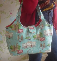 Cath Kidston London Fabric Bucket Tote Bag by QueenBeezBizarre