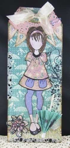 Scraps From A Broad: April Showers Julie Nutting Doll Stamp  Tag