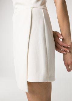 Vestido falda cruzada #minimal