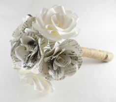 Hey, I found this really awesome Etsy listing at https://www.etsy.com/listing/398653579/paper-flower-bridal-bouquet-paper-roses