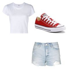 """""""Untitled #32"""" by jalaya06 on Polyvore featuring RE/DONE, Topshop and Converse"""