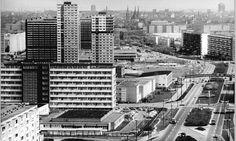 Blick über die Magistrale Richtung Altstadt Halle (Saale) 1982, © Bundesarchiv, Bild 183-1982-0430-008 / CC-BY-SA