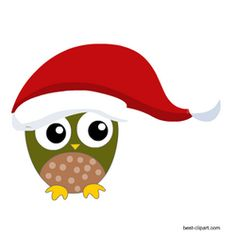 A super cute owl wearing big hat free Christmas clipart Christmas Jars, Christmas Tree, Christmas Clipart Free, Tree Images, Cute Owl, Card Maker, Santa Hat, Gingerbread, Projects To Try