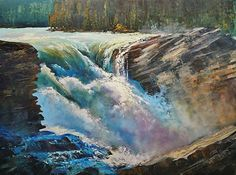 Linda Wilder - Athabasca Converge- Acrylic - Painting entry - August 2013 | BoldBrush Painting Competition