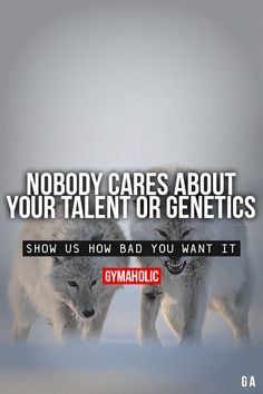 Nobody Cares About Your Talent Or Genetics