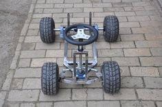 Naked beer crate kart