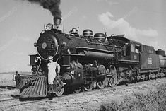 Conductor Poses On Front of Steam Train 4x6 Reprint Of Old Photo