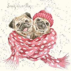 a734333c6c779 Pug Christmas card Cute pug Christmas card Available at www.ilovepugs.co.uk