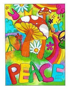 Flower Power lives in all our hearts! Hippie Style, Hippie Love, Hippie Chick, Hippie Peace, Happy Hippie, Peace Love Happiness, Peace And Love, Flower Power, Chakras