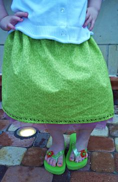 Pink and Green Skirt with Tulle Petticoat by SkySimone on Etsy #Skysimone