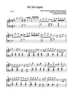 see you again easy piano sheet music pdf