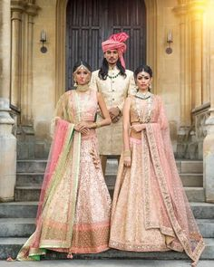 A warm and ethereal array of pastel hues in mint green blush pink and coral epitomise Summer for @mongasuk's latest collection featuring regally resplendent designs. Royal sherwanis perfectly complement the lengha ensembles in shades of opulent gold. As seen in Asiana Wedding Magazine Summer 2016 out now in-stores and online: www.asianamag.com  Hair & Make-up: @nazmeenmakeup  Jewellery: @deeyajewellery  Pagri Styling: Vikram @ Safa4weddings.com  Nails: @nazilaloveglam  Location: Horsley…
