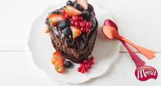 Chocoladetaartje gevuld met chocolademousse voor Moederdag - Mona